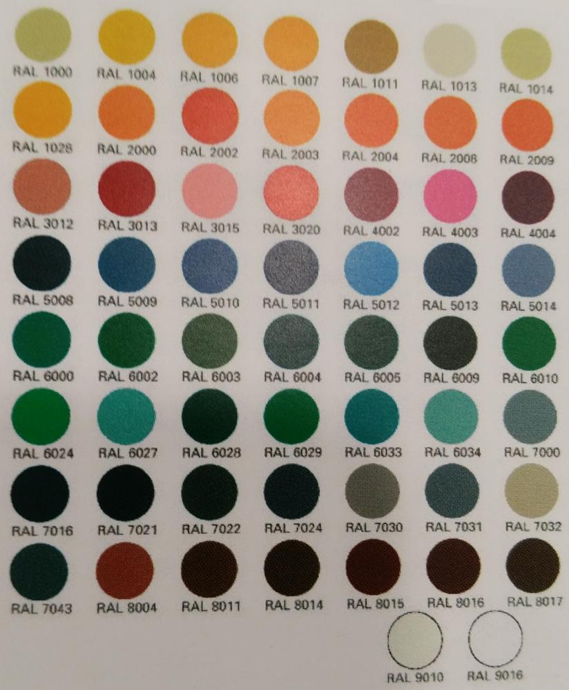 ral colores para puertas de segurdad